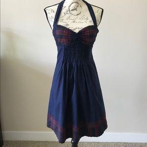 Betsey Johnson ~ Blue Halter Dress